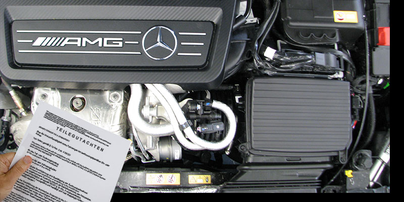 Mercedes-AMG Chiptuning mit TÜV Teilegutachten